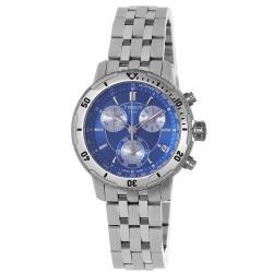 Tissot Men's T067.417.11.041.00 'PRS-200' Blue Chronograph Dial Quartz Watch - silver