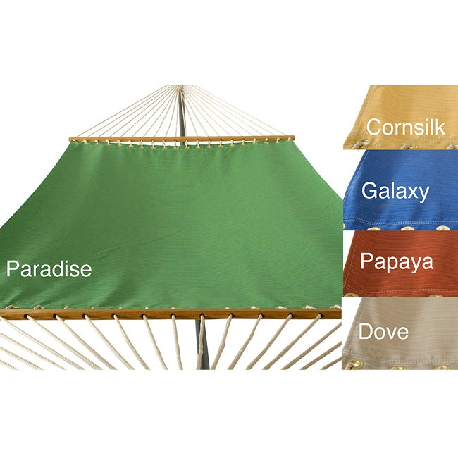 PHAT TOMMY Sunbrella Dupione Deluxe Hammock Outdoor Patio Deck Swing - Thumbnail 0