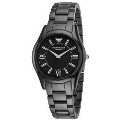 Emporio Armani Women's 'Ceramic Slim' Black Dial Watch