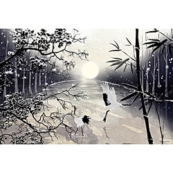 Maxwell Dickson 'Two Cranes' Modern Canvas Wall Decor