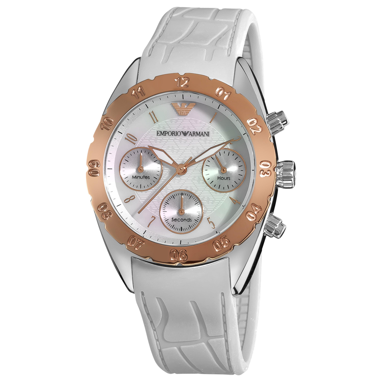ec20d13e6620 Shop Emporio Armani Women s  Sport  White Silicone Strap Watch - Free  Shipping Today - Overstock.com - 6478094