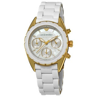 Emporio Armani Women's 'Sport' Goldtone Stainless Steel Bracelet Watch
