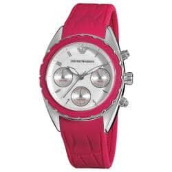 Emporio Armani Women's AR5937 'Sport' Pink Silicone Strap Watch https://ak1.ostkcdn.com/images/products/6478105/78/818/Emporio-Armani-Womens-AR5937-Sport-Pink-Silicone-Strap-Watch-P14071958.jpg?impolicy=medium