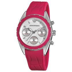 Emporio Armani Women's AR5937 'Sport' Pink Silicone Strap Watch