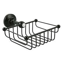 Westbrass Victorian 7-inch Rectangular Solid Brass Shower and Soap Wire Basket - Thumbnail 2