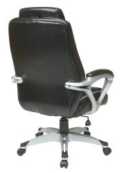Office Star Products Executive Eco Leather Chair with Padded Arms - Thumbnail 1