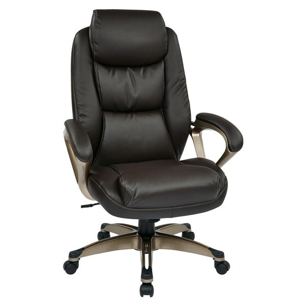 Executive Bonded Leather Chair with Coil Spring Seat