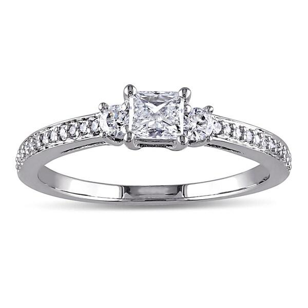 Miadora 10k White Gold 1/2ct TDW Diamond Ring (G-H, I1-I2)