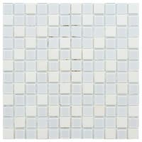 SomerTile 11.75x11.75-inch Chroma Square Cordia Glass and Stone Mosaic Wall Tile (10 tiles/9.79 sqft.)