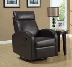 Brown Bonded Leather Recliner - Thumbnail 1