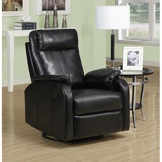 Black Bonded Leather Recliner