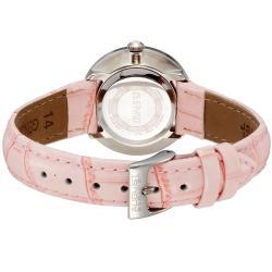 August Steiner Women's Water-Resistant Czech Stone Accented Quartz Silver-Tone Strap Watch