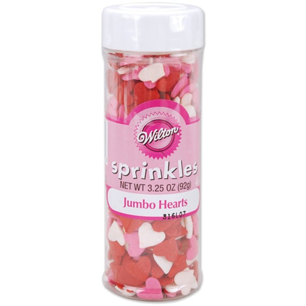 Wilton 3.5-ounce Jumbo Heart Sprinkles