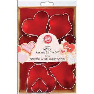 Wilton 7-piece Metal Heart Cookie Cutters