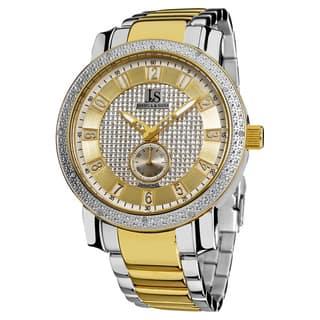 Joshua & Son's Men's Stainless Steel Quartz Diamond Two-Tone Bracelet Watch with FREE GIFT https://ak1.ostkcdn.com/images/products/6479261/Joshua-Sons-Mens-Stainless-Steel-Japanese-Quartz-Diamond-Bracelet-Watch-P14072713.jpg?impolicy=medium