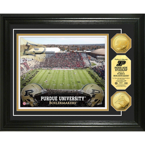 Highland Mint Purdue University Ross-Ade Stadium 24k Gold Coin Photo Mint