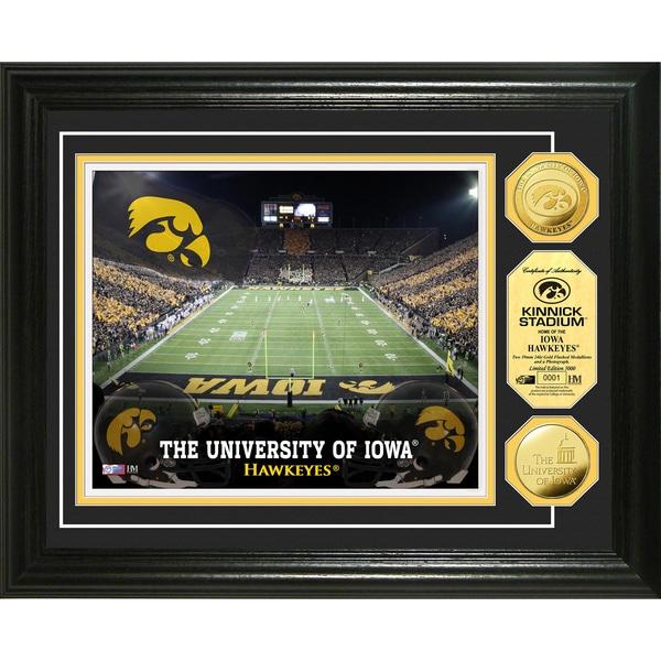 Highland Mint University of Iowa Kinnick Stadium 24k Gold Coin Photo Mint