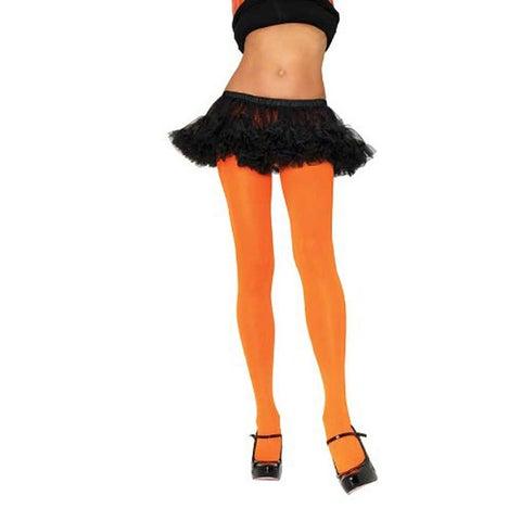 Leg Avenue Women's Nylon Opaque Orange Tights
