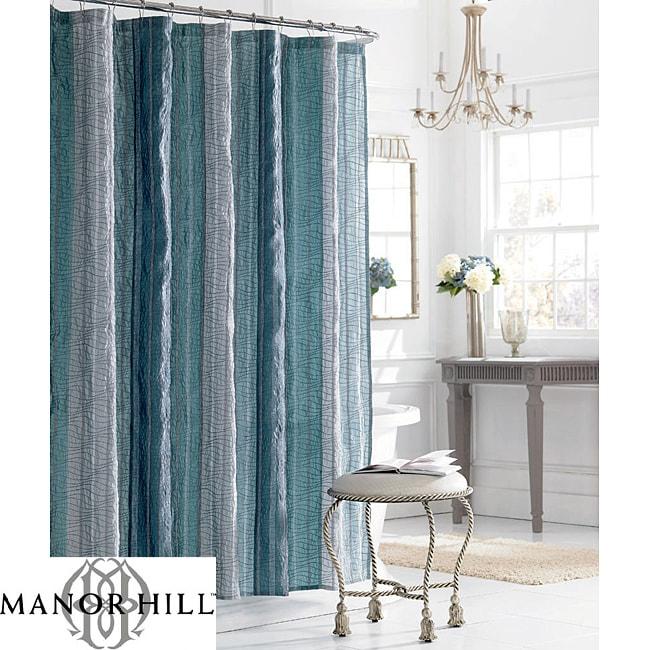 Manor Hill Sierra Sapphire Shower Curtain