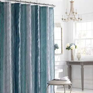 Manor Hill Sierra Sapphire Shower Curtain