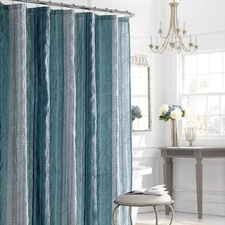 teal striped shower curtain. Manor Hill Sierra Sapphire Shower Curtain Blue  Stripe Curtains For Less Overstock com Vibrant