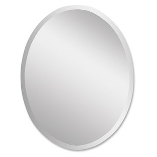 Uttermost Large Oval Mirror - Clear - 24x36x0.5
