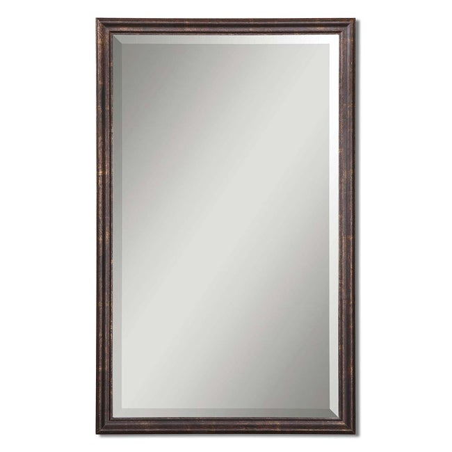 Uttermost Renzo Vanity Wood Framed Mirror Free Shipping