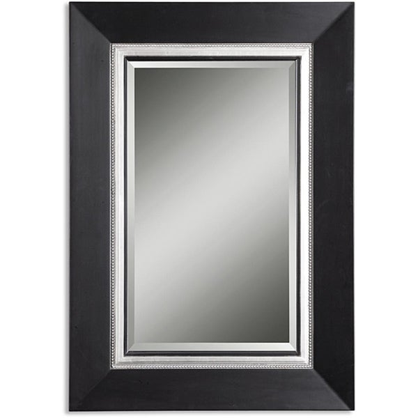 Shop Uttermost Whitmore Vanity Black Wood Framed Mirror - Free ...