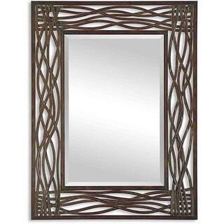 Uttermost Dorigrass Distressed Mocha Rustic Metal Framed Mirror|https://ak1.ostkcdn.com/images/products/6479432/P14072930.jpg?impolicy=medium