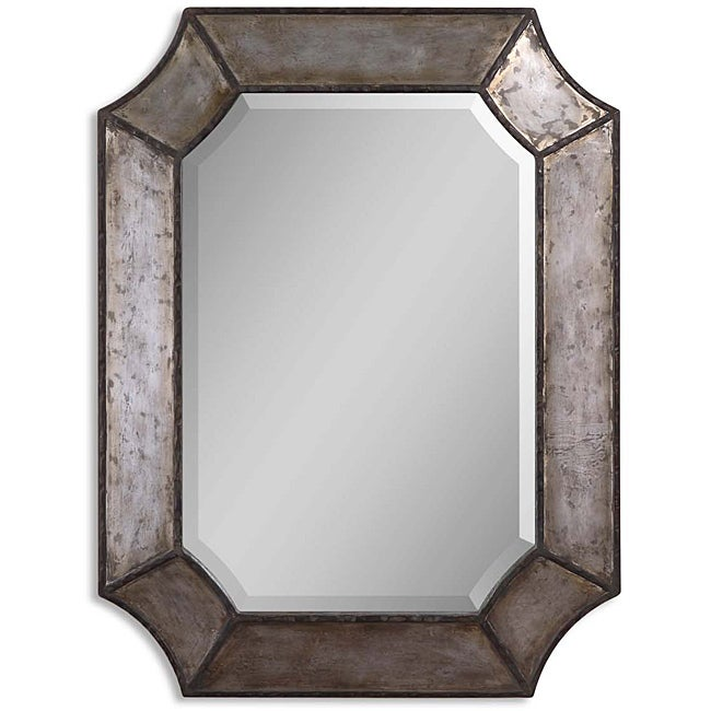 Uttermost Elliot Distressed Aluminum Rustic Framed Mirror - Thumbnail 0