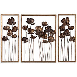 Uttermost Antiqued Gold Leaf Framed Metal Tulips