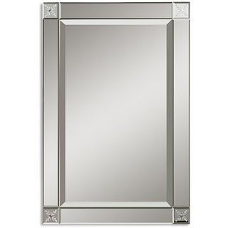 Uttermost Emberlynn Etched Bevel Framed Mirror - Silver - 20.5x30.75x1