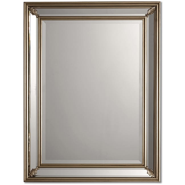 Uttermost Jansen Antique Silver Framed Mirror