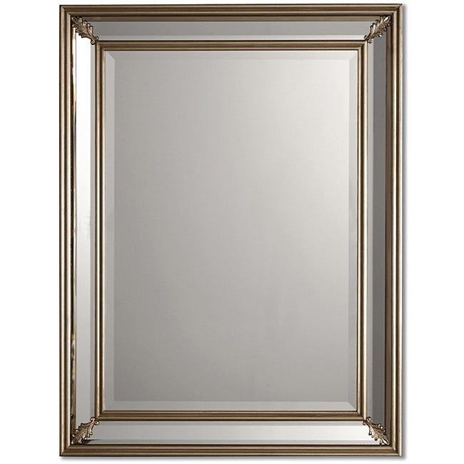 Vintage bathroom mirrors sale - Uttermost Jansen Antique Silver Framed Mirror Free