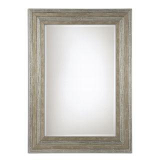 Uttermost Hallmar Distressed Silver Wood Framed Mirror