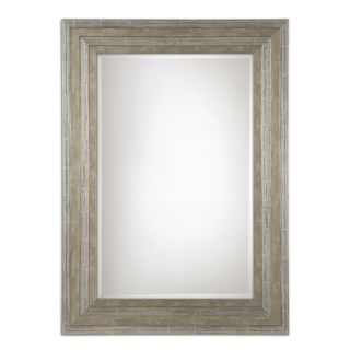 Uttermost Hallmar Distressed Silver Wood Framed Mirror - 25.5x35.5x1.25