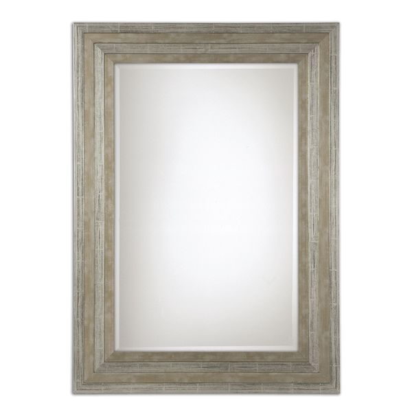 Uttermost Hallmar Distressed Silver Wood Framed Mirror