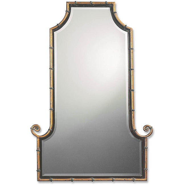 Uttermost Himalaya Spotted Gold Iron Framed Mirror