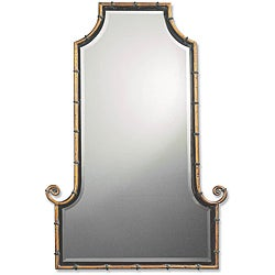 Uttermost Himalaya Spotted Gold Iron Framed Mirror - Thumbnail 0