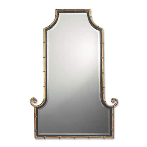 Uttermost Himalaya Spotted Gold Iron Framed Mirror - 29x42x2