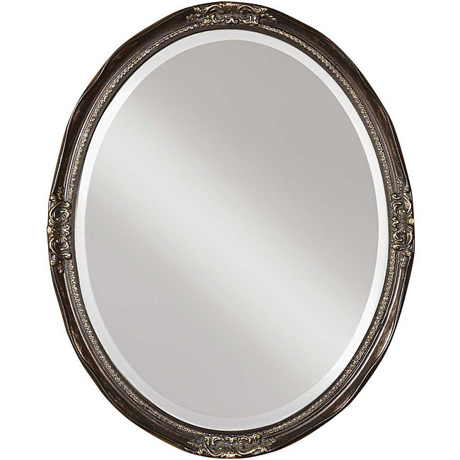 Uttermost Newport Oval Silver Leaf Framed Mirror
