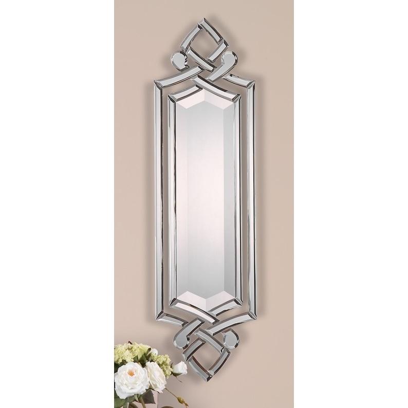 Shop Uttermost Ginosa Hand Beveled Frameless Mirror 10x36x0 75 Overstock 6479461
