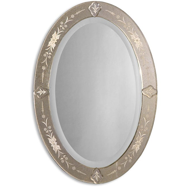 Uttermost Donna Antique Oval Mirror-Framed Mirror