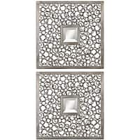 Uttermost Colusa Metal Framed Squares - Antique Silver