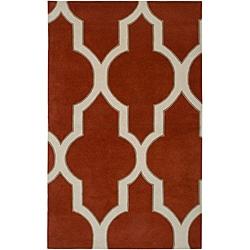 Hand-tufted Averlo Rust Area Rug (8' x 10')