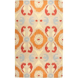 Hand-tufted Averlo Beige Area Rug (5' x 8') - Thumbnail 0