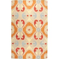 Hand-tufted Averlo Beige Area Rug (9' x 12')