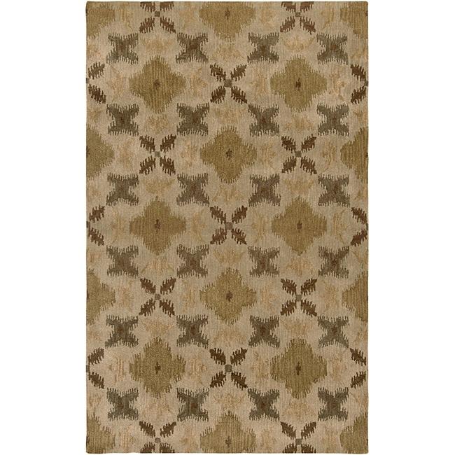 Hand-tufted Averlo Beige Area Rug (8' x 10')