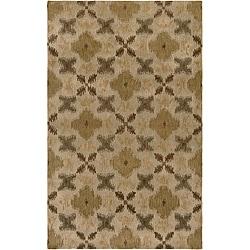 Hand-tufted Averlo Beige Area Rug (8' x 10') - Thumbnail 0