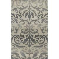 Hand-Tufted Averlo Light Gray Wool Area Rug - 8' x 10'